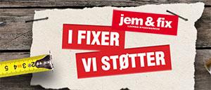 Tak for hjælpen til Jem & Fix som støtter Bornholms Middelaldercenter Vennekreds